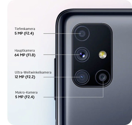 Samsung Galaxy M51 Camaras