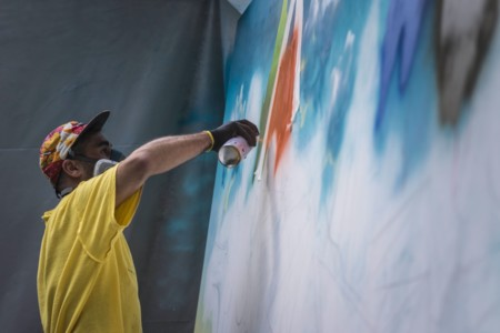 H3O, original exposición de arte urbano en Andorra con el agua como protagonista