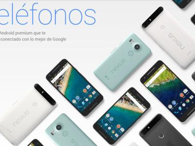 Nexus 5X y Nexus 6P en oferta en Google Store ¡con 80 y 100 euros de descuento!