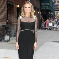 Diane Kruger presenta Inglourious Basterds en el show de David Letterman