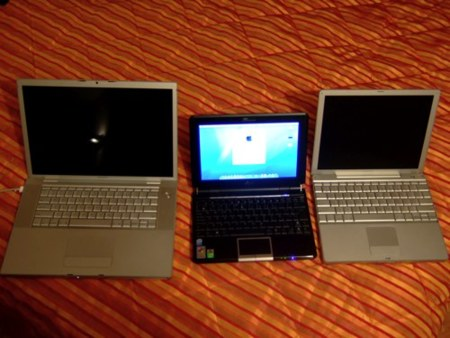 "Comparando tamaños con MacBook Pro 15"" y PowerBook 12"""