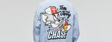 Tu look será más retro que nunca con las piezas en denim de Pull&Bear inspirada en Tom y Jerry