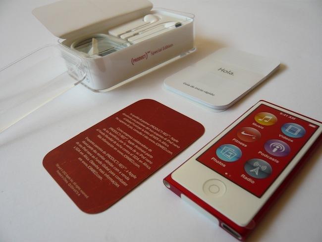 iPod nano 2012 contenido