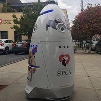 Están usando robots para evitar que acampe gente sin hogar al lado de la oficina en San Francisco