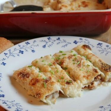 Canelones a la mexicana. Receta fácil para la comida o cena