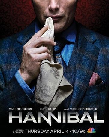 Cartel promocional de la serie 'Hannibal'