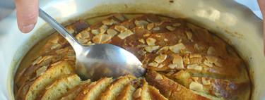 Pudding sencillo de roscón, receta de aprovechamiento con aires británicos