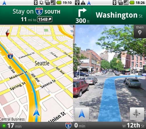 Google Maps Navigation para Android 2.0