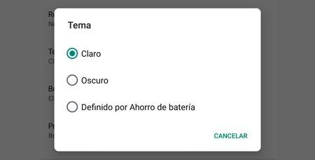 El modo oscuro de Google Play desaparece con el selector de temas: así puedes recuperarlo