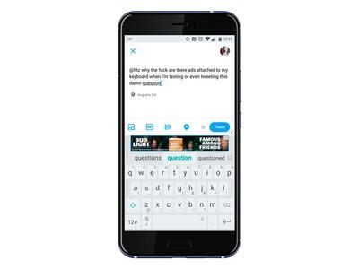 El teclado TouchPal de algunos HTC empieza a mostrar publicidad, la compañía asegura que es un error