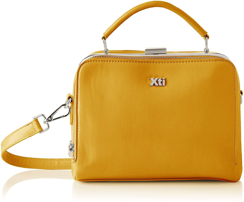 XTI 86451, Bolso Sra. Charol Amarillo para Mujer, Sin Talla