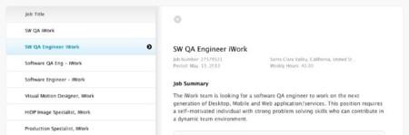 Nuevas ofertas de trabajo de Apple relacionadas con iWork