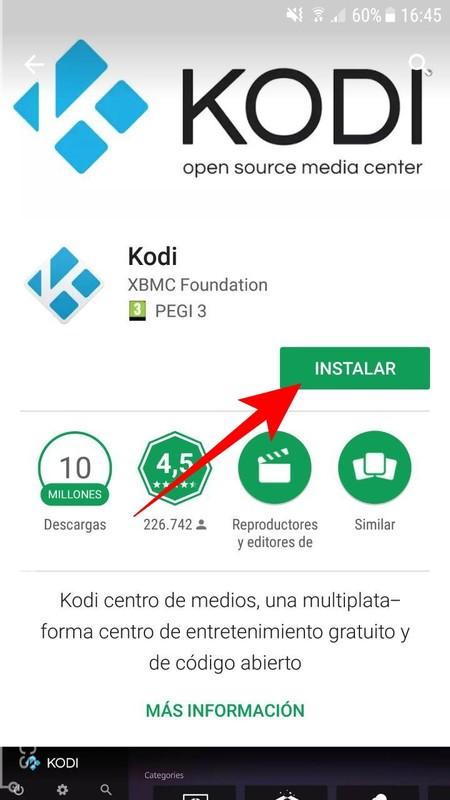 Instalar Kodi