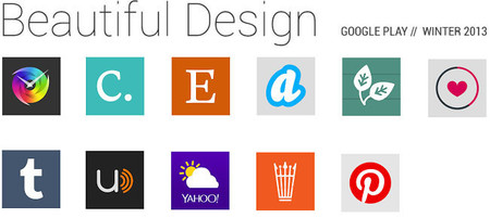 Google Play selecciona 11 aplicaciones para la Colección 'Beautiful Design Winter 2013'