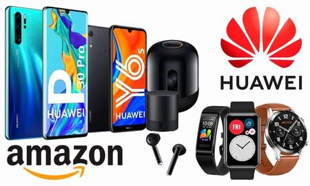 Smartphones, relojes, pulseras deportivas, altavoces y auriculares Huawei a los mejores precios en las ofertas de Navidad de Amazon