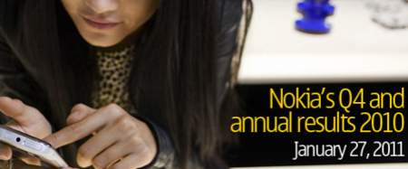 Nokia resultados financieros de 2010
