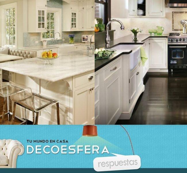 Las encimeras de la cocina oscuras o claras la pregunta for Decoesfera cocinas