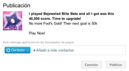 google plus mensaje juegos bejeweled