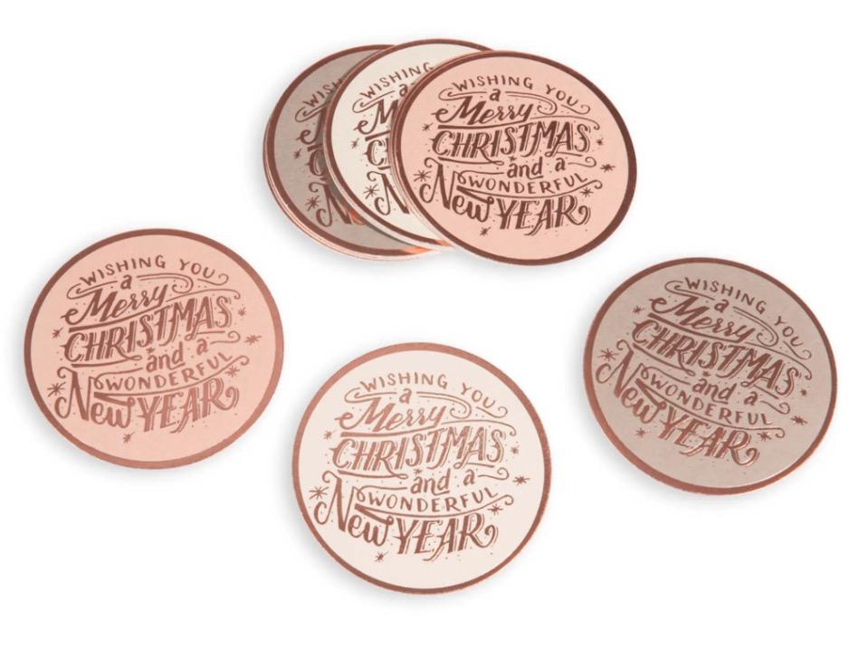 12 posavasos de papel Marry Copper
