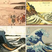 La evolución de la gran ola de Kanagawa, el grabado japonés más icónico, en cuatro bocetos