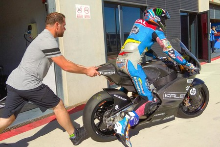 Alex Marquez Triumph Kalex Test Motorland 2018
