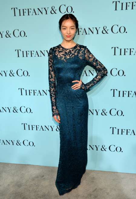 Tiffany & Co Blue Book gala 2014 red carpet Fei Fei Sun