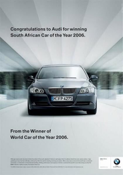 La guerra de publicidad entre BMW, Audi, Subaru y... Bentley