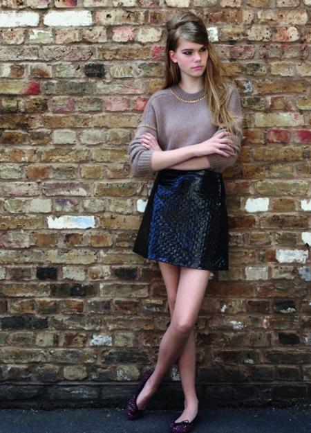 topshop minifalda otoño 2012
