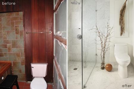 Antes y después - de la oscuridad absoluta al baño de mis sueños