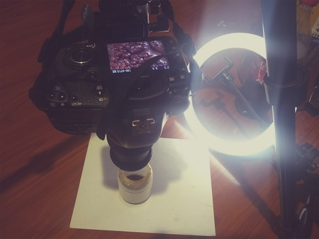 Equipo para realizar fotografias macro en casa