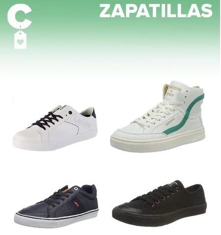 Chollos en tallas sueltas de zapatillas Superdry o Levi's a la venta en Amazon