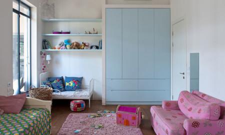 Habitación infantil en rosa y azul