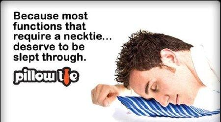 Pillow Tie, la corbata que se convierte en almohada