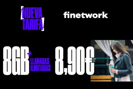 Finetwork estrena nueva tarifa con 8 GB y llamadas ilimitadas, por 8,90 euros