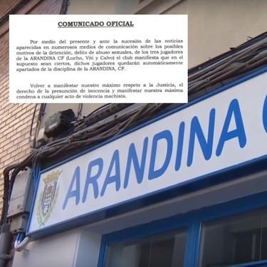 Tres futbolistas de la Arandina, detenidos por una presunta agresión sexual a una menor