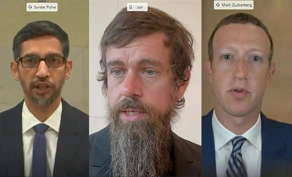 Los CEO de Twitter, Facebook y Google comparecen en el Congreso de EEUU para dar explicaciones por sus políticas de moderación