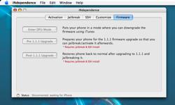 Nueva versión de iNdependence para el iPhone: listo para el firmware 1.1.1