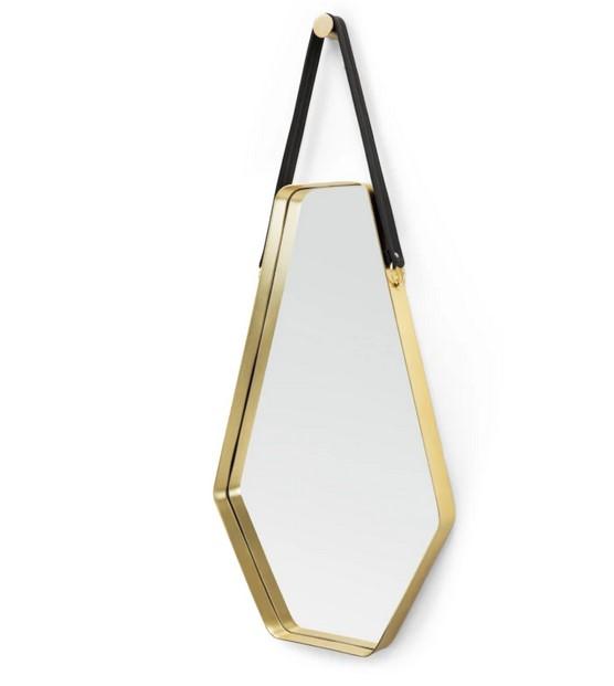 Espejo grande Cora de 45 x 100 cm Cora, negro y dorado