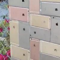 Un nuevo uso para los iPhone reciclados: decoración de muros