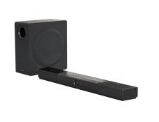 Barra de sonido con sistema de altavoces Dolby Atmos, subwoofer inalámbrico y Super X-Fi Headphone Holography