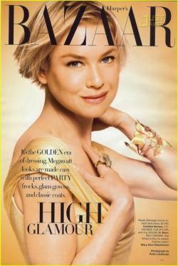 Renée Zellweger portada de Harper's Bazaar