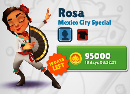 Rosa en Subway Surfers