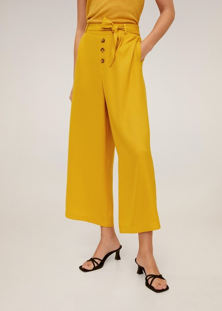 Pantalón culotte botones