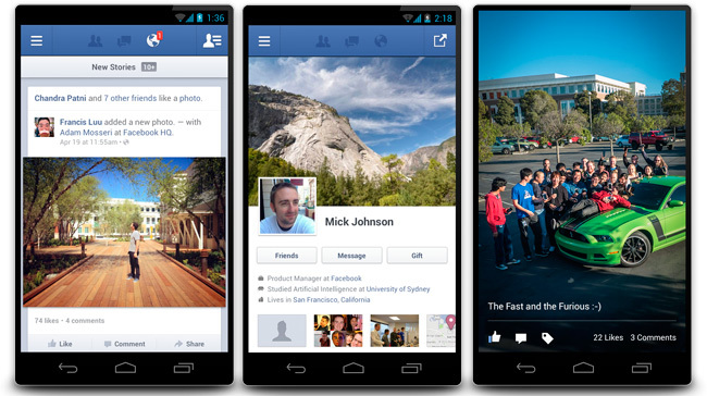 Mejoras Facebook Android