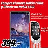 El nuevo Nokia 7 Plus por 399 euros en MediaMarkt con un Nokia 3310 de regalo