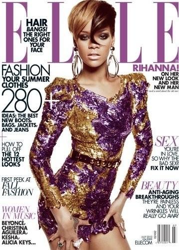 Rihanna es todo lentejuelas en la portada de Elle
