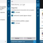 Cortana ahora puede avisarte cada vez que el Real Madrid o el Barcelona marcan un gol