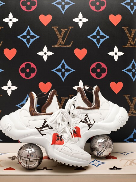 Lv Archlight Game On Sneaker In Printed Calf Leather
