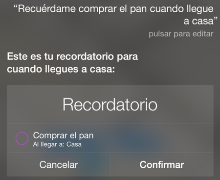 Siri Recordatorio