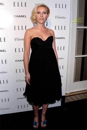 Scarlett Johansson en la fiesta de Elle 2007